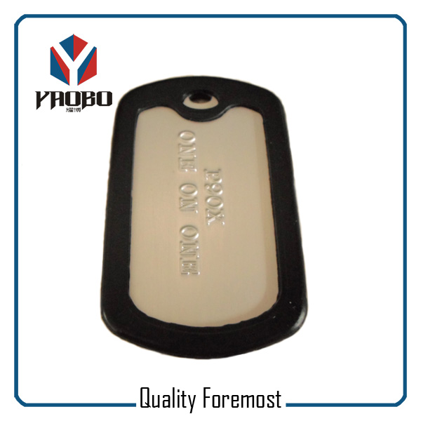 Silver Tags With Logo