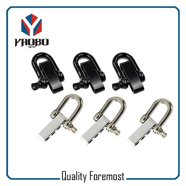 Custom High Quality Black and Silver Color D Shackles