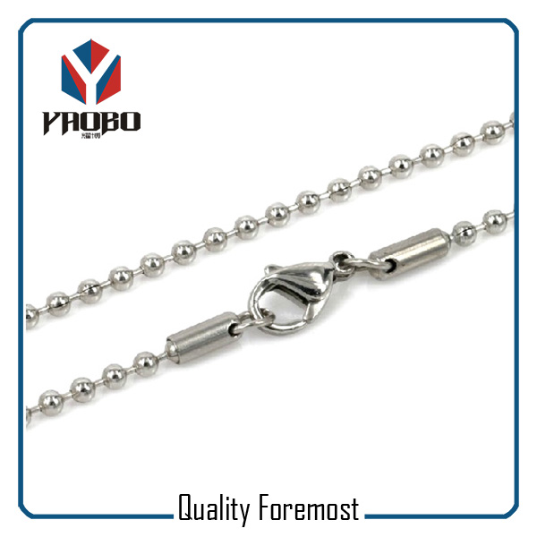 Stainless Steel Bead Chain Jewelry