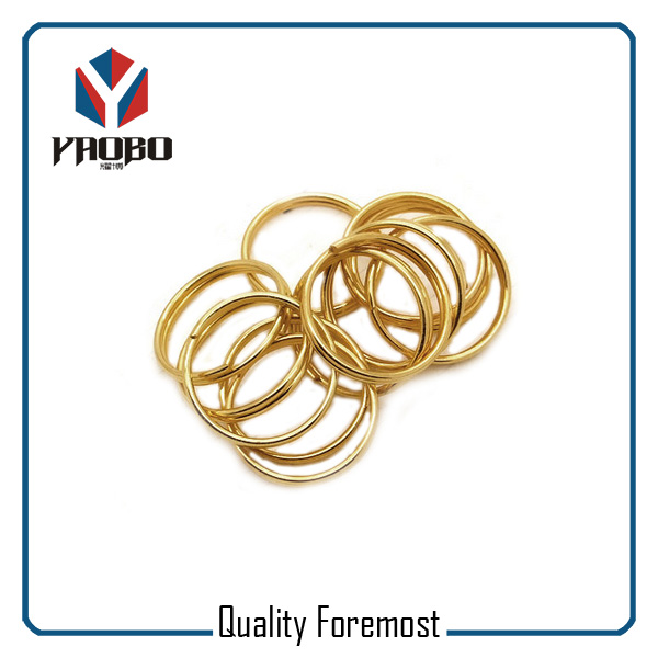 Gold Color Split Round Ring