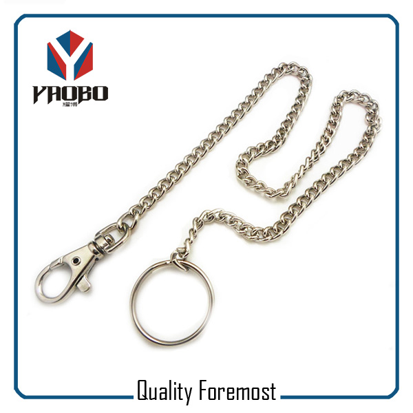 Split Ring With Snap Hook Key Chain