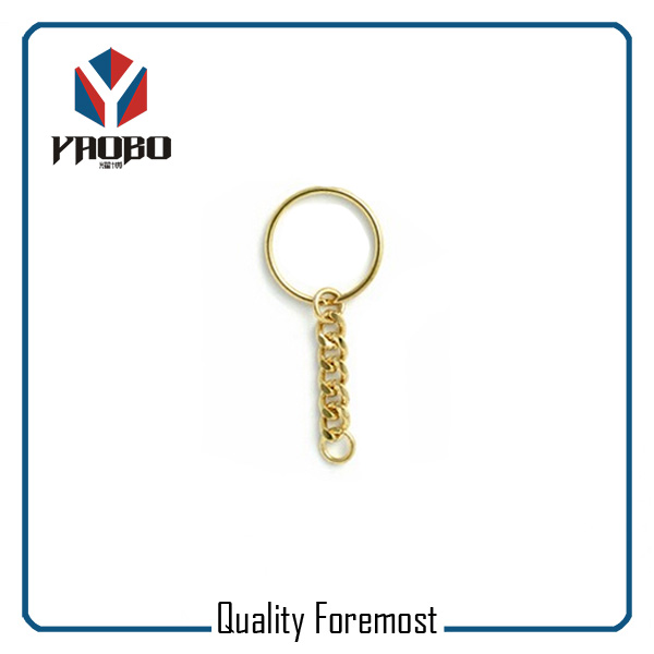 Gold Key Ring Key Chain