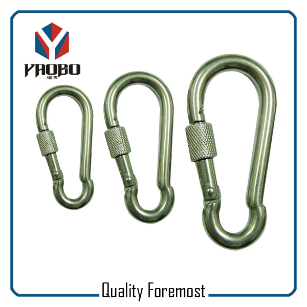 Stainless Steel Carabiner Hook With Lock