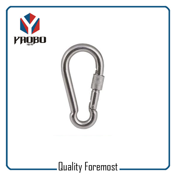Stainless Steel 304 Carabiner Hook With Lock