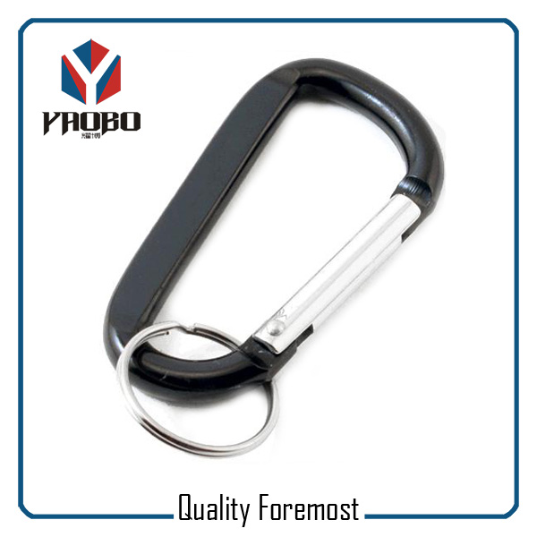 Aluminum Carabiner With Split Ring