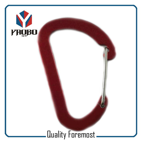 Wholesale Red Aluminum Carabiner