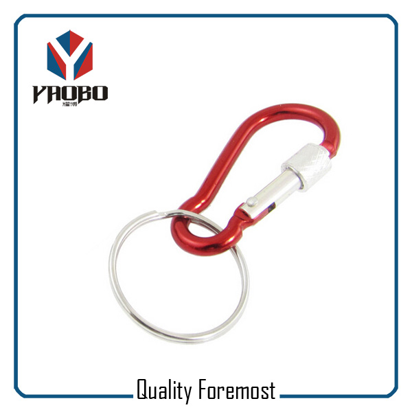 Red Carabiner Key Ring