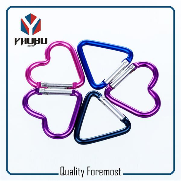 Colored Heart Shape Carabiner