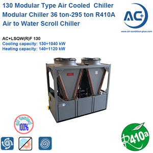 Air Cooled Modular Chiller/Air Cooled Scroll Chiller 130kw R410A