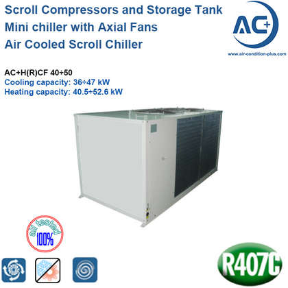 air cooled scroll chiller R407C