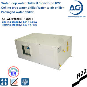 packaged ceiling mounted water chiller/Water to air chiller
