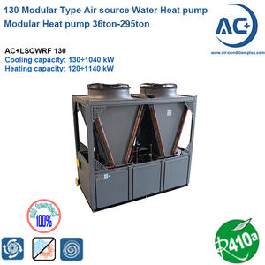 130 modular heat pump Water Chiller scroll type air source heat pump