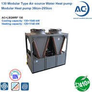 130 R410A Modular Type Air Source Heat Pump scroll type air source heat pump