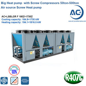screw type air source heat pump /heat pump  with Screw Compressor 50ton-500ton