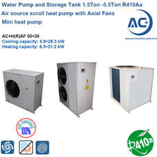 air source water heat pump 1.5Ton -5.5Ton R410A air to water chiller unit