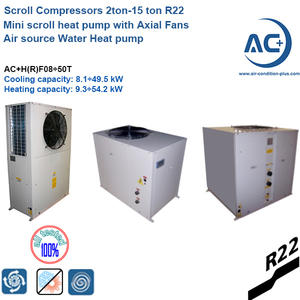 scroll mini heat pump 2ton-15 ton R22 mini heat pump