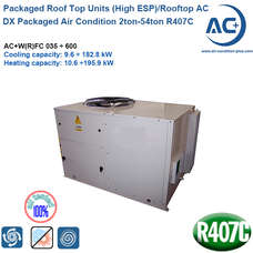 DX packaged rooftop air condition 2ton-54ton R407C