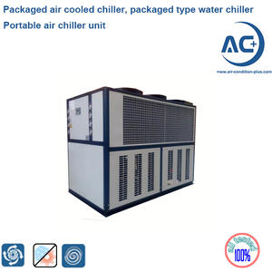 Packaged industrial air cooled chiller, cooling water chiller