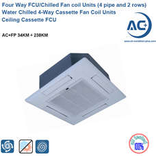 Water Chilled 4-Way Cassette Fan Coil Units water chilled 4-way cassette