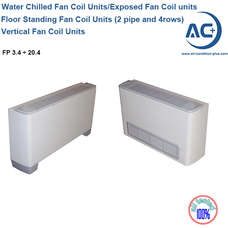 european fan coil units (2 pipe and 4 rows) water chilled fan coil units