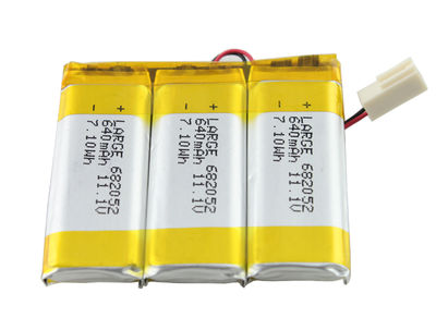 682052 (3S1P)Lithium Polymer Battery Pack 11.1V 640mAh