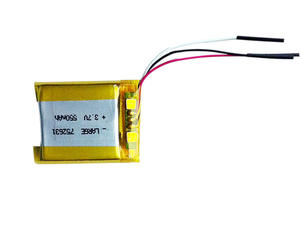 PL752631 3.7V 550mAh Lithium Polymer Battery for Portable Device