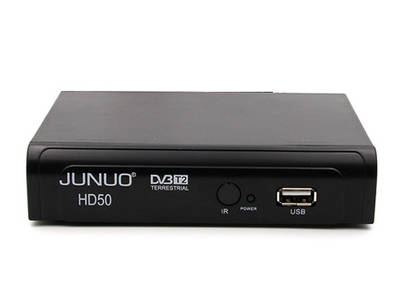 JUNUO mejor sintonizador hd dvb t2 receptor singapur set top box