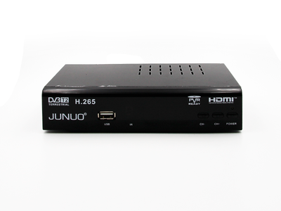 JUNUO h 265 hevc set top box dvb-t2 récepteur