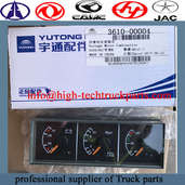 low price wholesale Yutong bus Combined instrument 3610-00004