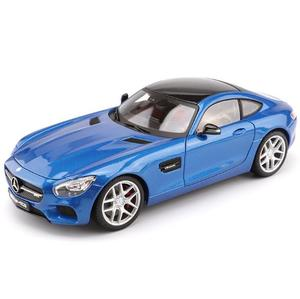 Stock 1:18 Simulation Alloy Car Model Benz AMG GT Hardcover Super Sports Car Model