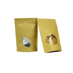 Kraft Stand Up Pouches With Window, Kraft Stand Up Pouches  Factory