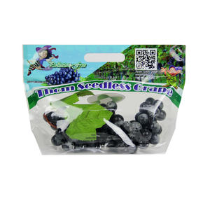 Bag of Grapes , Resealable Zippers Grape Bags Factory
