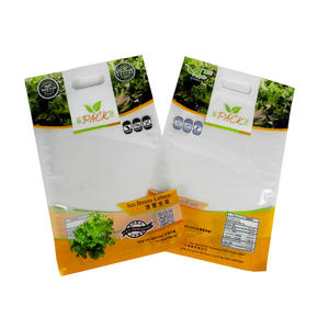 Printed Zipper Plastic Lettuce Packaging Bag