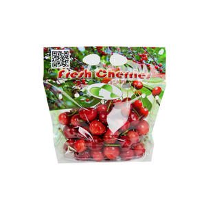 Printed Plastic Ziplock Cherry Packaging Bag