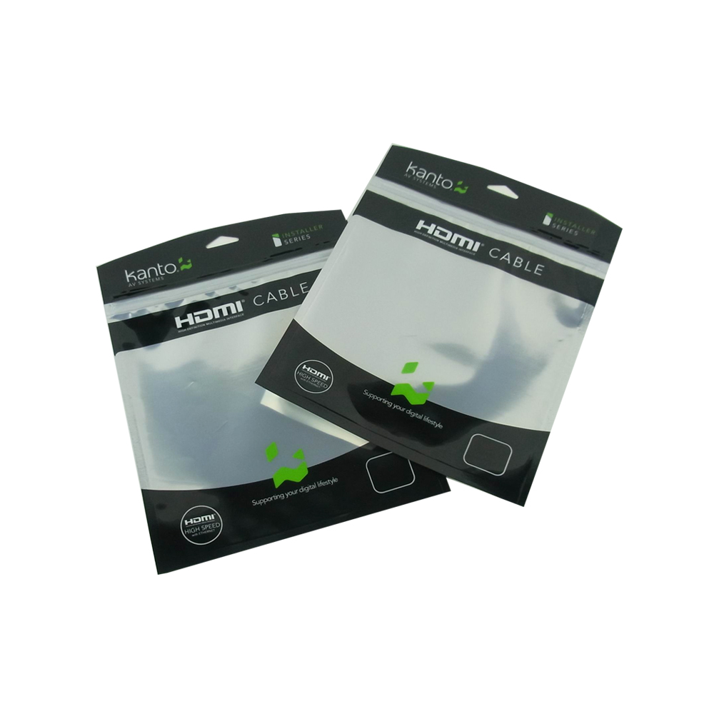 HDMI Cable Packaging Foil Ziplock Bag