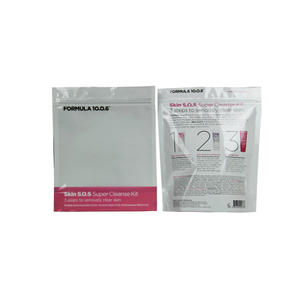 Skin Cleanse Kits Packing Foil Zippered Bags