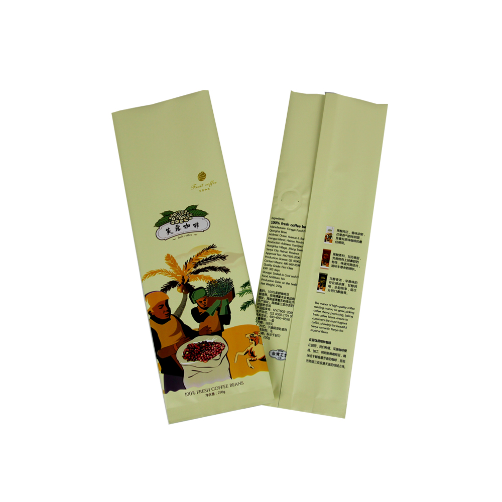Aluminum Foil 250g Coffee Bag With Valve