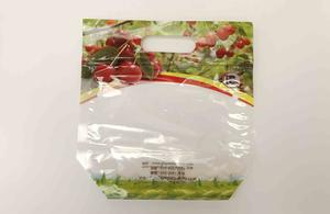 Printed Plastic Cherry Packaging Bag With Zipper And Ventilation