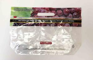 Printed Plastic Table Grape Pouch Bag With Slider And Ventilation