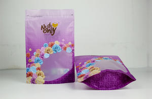 Nuts Packaging Zipper Standing Bag With Window