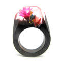 dried flower resin ring