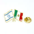 country flags lapel pins