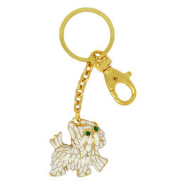 Wholesale metal alloy 3D dog charm keychain jewelry (3d keychain)
