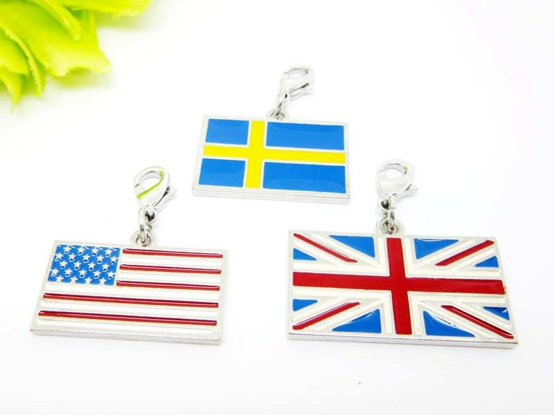 Classic design USA flag charms for wholesale, Enamel jewelry(country flag charm)