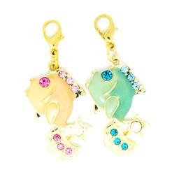 Wholesale custom marine animal charms, enamel tropical fish charm(Enamel charms supplier)