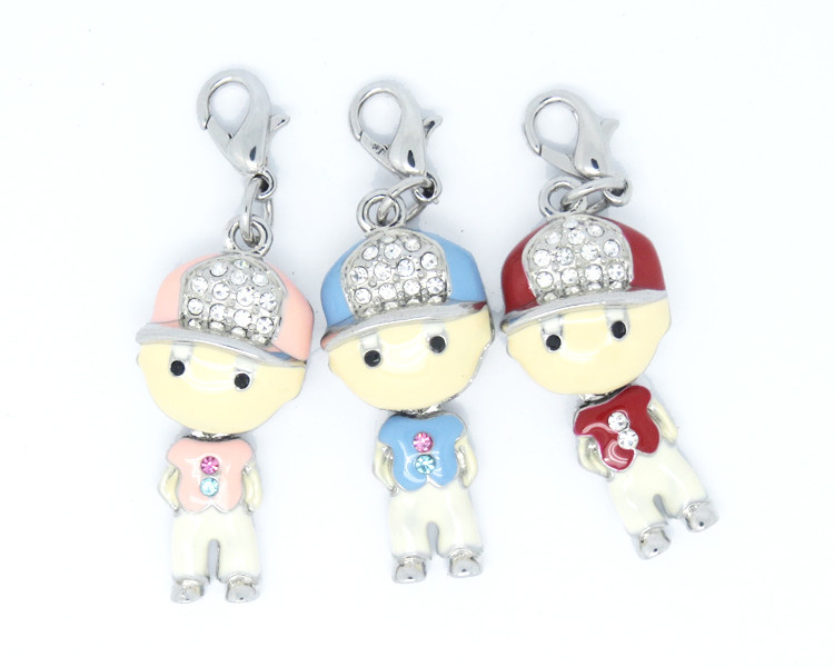Wholesale Cartoon charms, enamel fancy boy charms jewelry (Metal alloy charms factory)