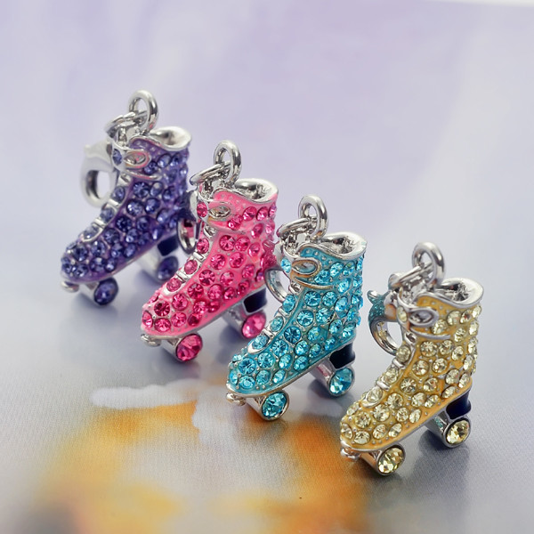 Custom made Roller Skating Shoe pendant charms (custom made charms wholesale)