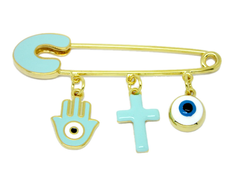 China factory cross charms pins and baby boy blue pins (Custom pins jewelry)