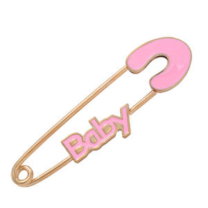 china   safety baby pink pins, hot sale Israel popular religious pins factory
