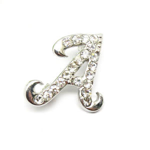 Wholesale initial brooch, Crystal Letter A Pin brooch suppliers